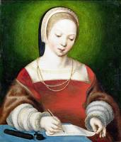 Netherlandish - A Girl Writing