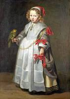 Netherlandish - Portrait of a Girl with a Parrot