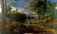 Nicolas Poussin - Landscape with a Man killed by a