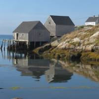 NS Fishing Village -1888 Art Prints & Posters by Denise Davies