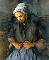 Paul Cezanne - An Old Woman with a Rosary