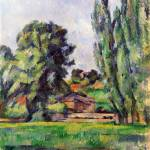 """Paul Cezanne - Landscape with Poplars"" by ArtLoversOnline"