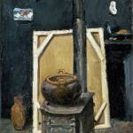 """Paul Cezanne - The Stove in the Studio"" by ArtLoversOnline"