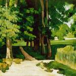 """Paul Cezanne - The Avenue at the Jas de Bouffan"" by ArtLoversOnline"