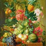 """Paulus Theodorus van Brussel - Fruit and Flowers"" by ArtLoversOnline"