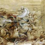 """Peter Paul Rubens - A Lion Hunt"" by ArtLoversOnline"