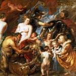 """Peter Paul Rubens - Minerva protects Pax from Mars"" by ArtLoversOnline"
