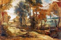 Peter Paul Rubens - A Wagon fording a Stream