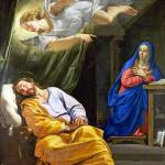 """Philippe de Champaigne - The Dream of Saint Joseph"" by ArtLoversOnline"