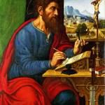 """Pier Francesco Sacchi - Saint Paul Writing"" by ArtLoversOnline"