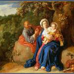 """Pieter Lastman - The Rest on the Flight into Egypt"" by ArtLoversOnline"