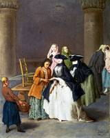 Pietro Longhi - A Fortune Teller at Venice