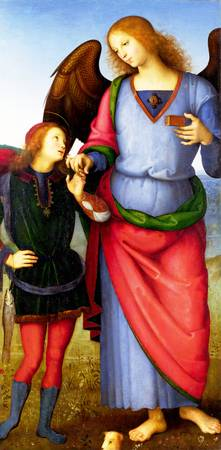 Pietro Perugino - The Archangel Raphael with Tobia
