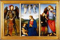 Pietro Perugino - Three Panels from an Altarpiece,