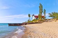 Point Betsie Lighthouse on a Sunny Day
