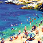 """Swimming at La Jolla Cove"" by BeaconArtWorksCorporation"