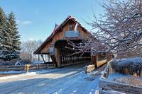 Wooden Covered Bridge in Winter - Frankenmuth, MI