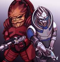 Wrex and Garrus