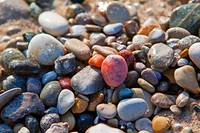 Colorful Stones on Beach