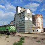 """Train and Mill, Alliance, Nebraska"" by joelrichter"