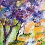 """Jacaranda Tree Watercolor by Ginette"" by GinetteCallaway"