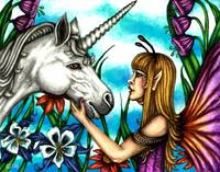 Fairy and Unicorn in Color