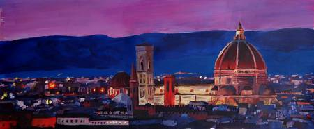 Florence Skyline Italy With Santa Maria Del Fiore