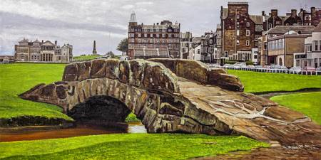 St. Andrews Links Golf Course Swilcan Bridge 18th