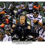 """""""Seattle Seahawks NFL Fooball Super Bowl Champions"""" by Richimage"""