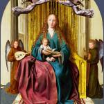 """Quinten Massys - The Virgin and Child Enthroned, w"" by ArtLoversOnline"