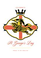 Celebrate St  George Day Proud to Be English Retro