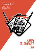 Proud To Be English Happy St George Greeting Card