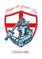 Proud to Be English Happy St George Day Shield Car