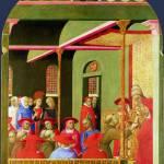 """Sassetta - Saint Francis before Pope Honorius III"" by ArtLoversOnline"