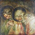 """Spinello Aretino - Two Haloed Mourners"" by ArtLoversOnline"