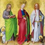 """Stephan Lochner - Three Saints"" by ArtLoversOnline"