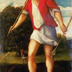 """Studio of Bonifazio di Pitati - A Huntsman"" by ArtLoversOnline"