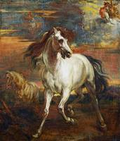 Style of Anthony van Dyck - The Horses of Achilles