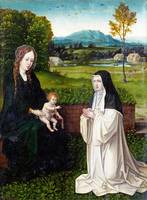Style of Joachim Patinir - The Virgin and Child wi