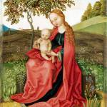 """Style of Martin Schongauer - The Virgin and Child"" by ArtLoversOnline"