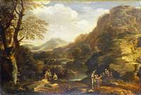 Style of Salvator Rosa - Mountainous Landscape wit