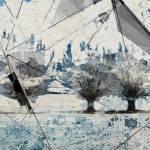 """Blue Crystal Geometric Landscape"" by Aneri"