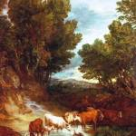 """Thomas Gainsborough - The Watering Place"" by ArtLoversOnline"