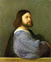 Titian - A Man with a Quilted Sleeve