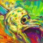 """""""Mahi Study - Contemporary Dolphin Fish Art"""" by Savlen"""