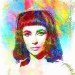 """Elizabeth Taylor in Cleopatra"" by ArtCinemaGallery"