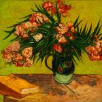 """Vincent Van Gogh Vase With Oleanders And Books"" by masterpiecesofart"