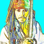 """Johnny Depp in Pirates of the Caribbean"" by ArtCinemaGallery"