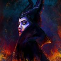 Maleficent Art Prints & Posters by Laura Ferreira