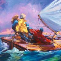 Evening Sail On Lake Mac Art Prints & Posters by Beth Charles